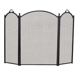 3-Panel Arched Fireplace Screen - Small