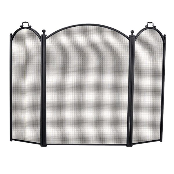 "3-Panel Arched Fireplace Screen - 52"" x 29"" image number 0"