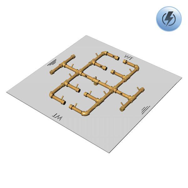 """300,000 BTU Square Electronic Crossfire Burner System - 42"""" image number 0"""