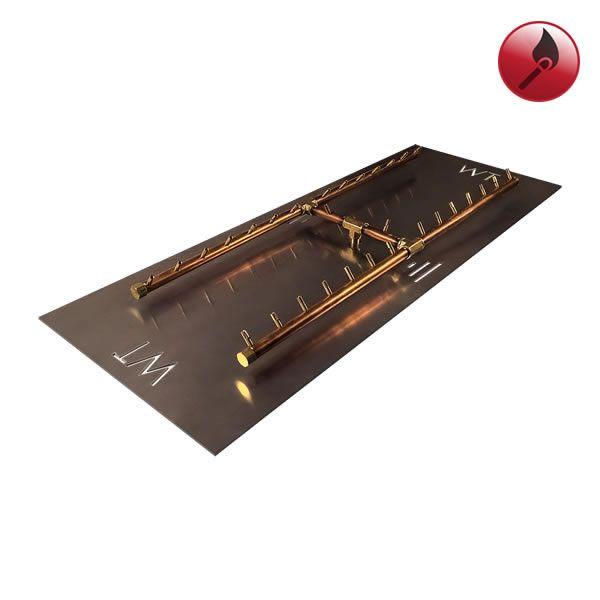 """300,000 BTU Match Lit Crossfire H-Burner System - 56"""" image number 0"""
