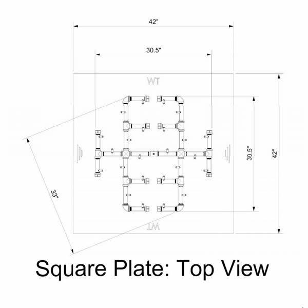 """300,000 BTU Square Electronic Crossfire Burner System - 42"""" image number 2"""