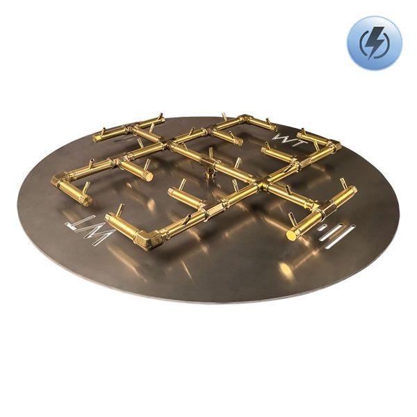 "300,000 BTU Round Electronic Crossfire Burner System - 42"" image number 0"