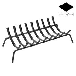 "32.5"" 9-Bar Rectangle Fireplace Grate"