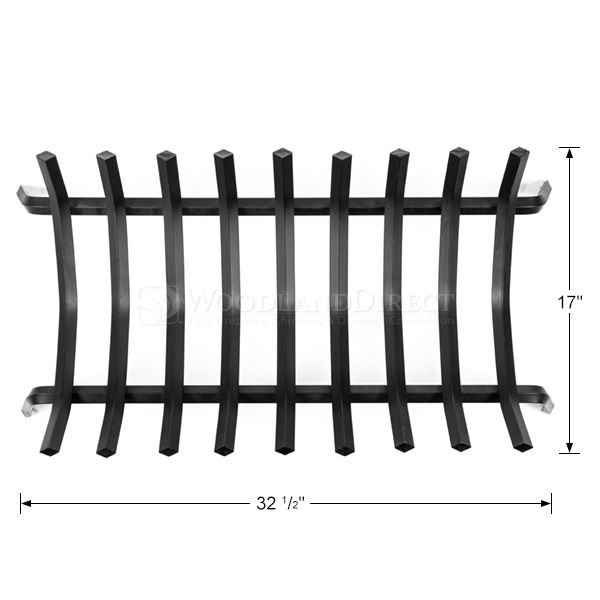 "9-Bar Rectangle Fireplace Grate -32 1/2"" image number 1"