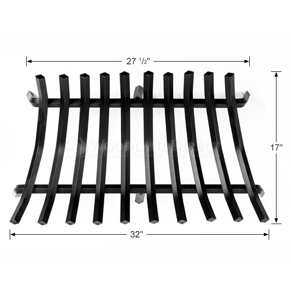 """10-Bar Tapered Fireplace Grate - 32 1/2"""" image number 1"""