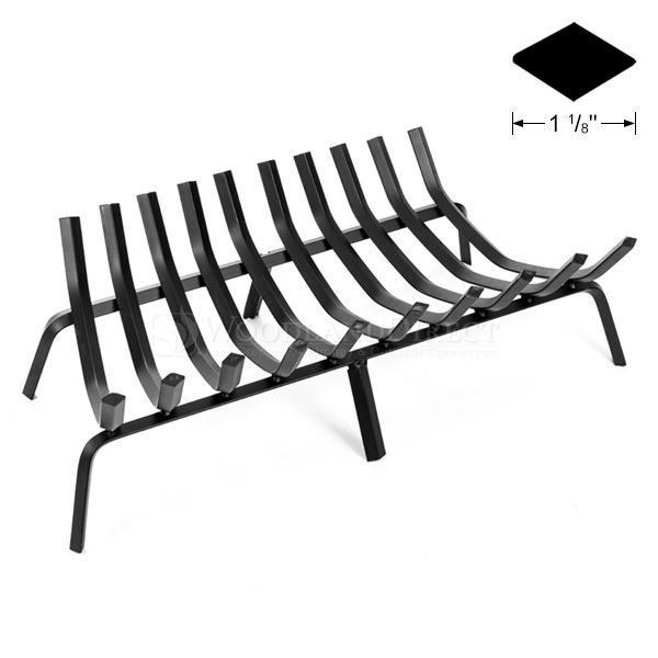 """10-Bar Tapered Fireplace Grate - 32 1/2"""" image number 0"""