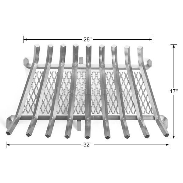 "Lumino Stainless Steel Ember Lifetime Fireplace Grate - 32"" image number 1"
