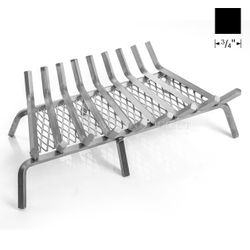 """32"""" Lumino Stainless Steel Ember Lifetime Fireplace Grate"""