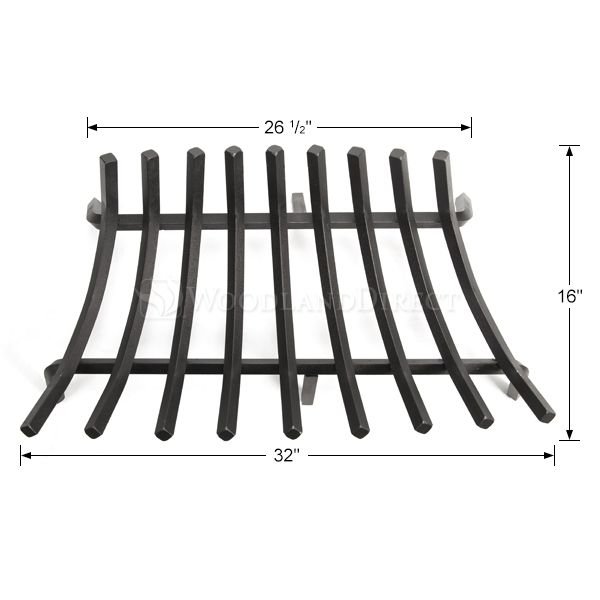 "Stronghold Contoured Lifetime Fireplace Grate - 32"" image number 1"