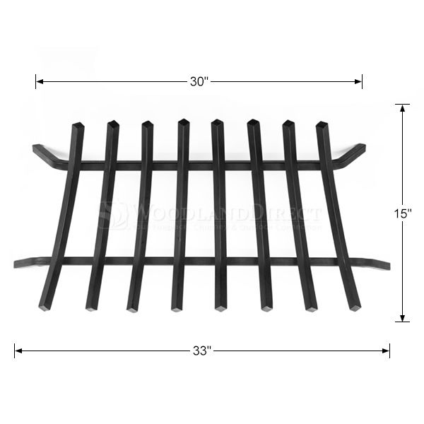"8-Bar Fireplace Grate - 33"" image number 1"