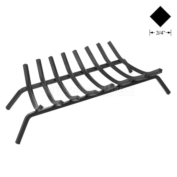 "8-Bar Fireplace Grate - 33"" image number 0"