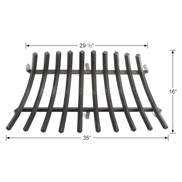 "Stronghold Contoured Lifetime Fireplace Grate - 35"" image number 1"