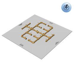 "350,000 BTU Square Electronic Crossfire Burner System - 42"""