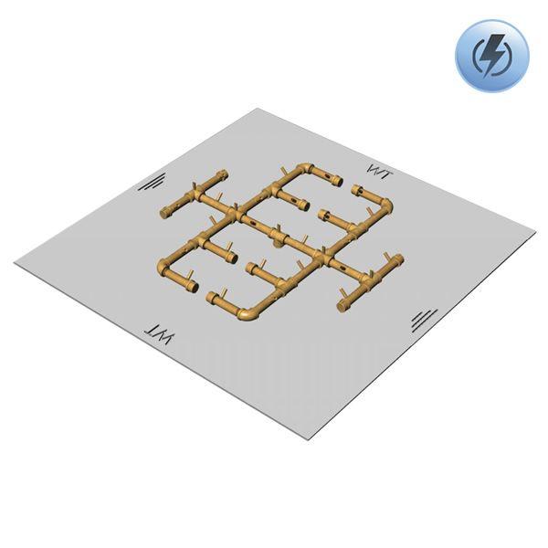 """350,000 BTU Square Electronic Crossfire Burner System - 42"""" image number 0"""