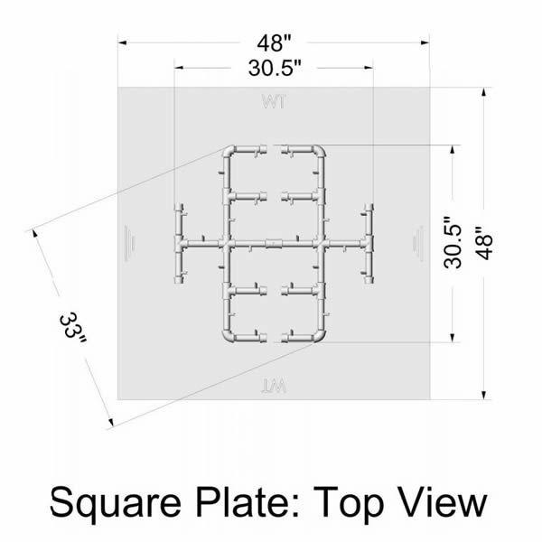 """350,000 BTU Square Electronic Crossfire Burner System - 42"""" image number 2"""