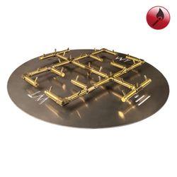 "350,000 BTU Round Match Lit Crossfire Burner System - 48"""