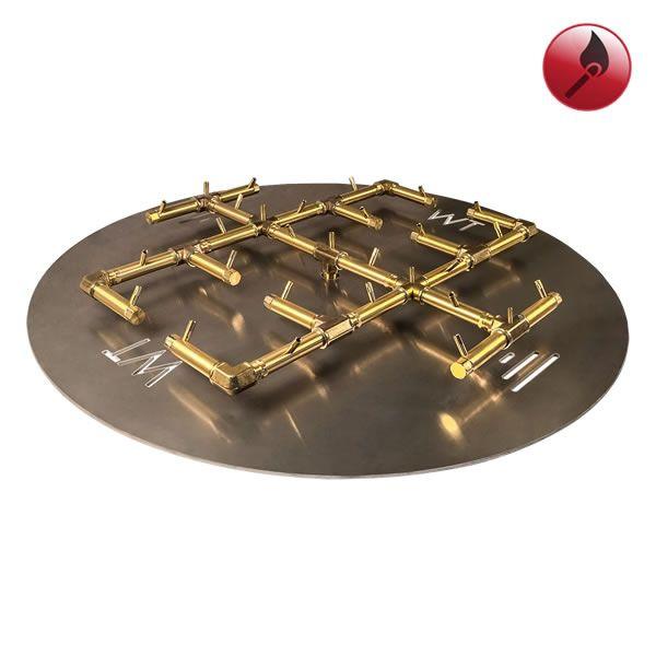 """350,000 BTU Round Match Lit Crossfire Burner System - 42"""" image number 0"""