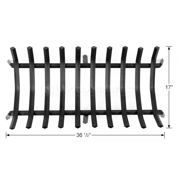 "10-Bar Rectangle Fireplace Grate - 36 1/2"" image number 1"