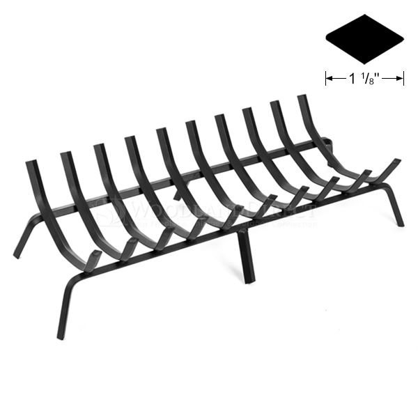 "10-Bar Rectangle Fireplace Grate - 36 1/2"" image number 0"