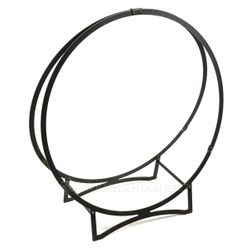 "36"" Stronghold Black Steel Log Hoop"