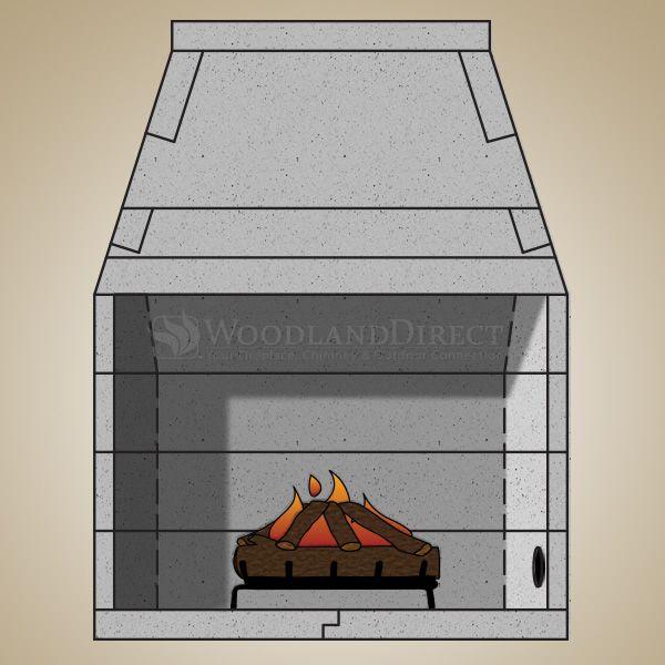 "39"" Pre-cast Masonry Firebox Kit - Gas Burning image number 0"