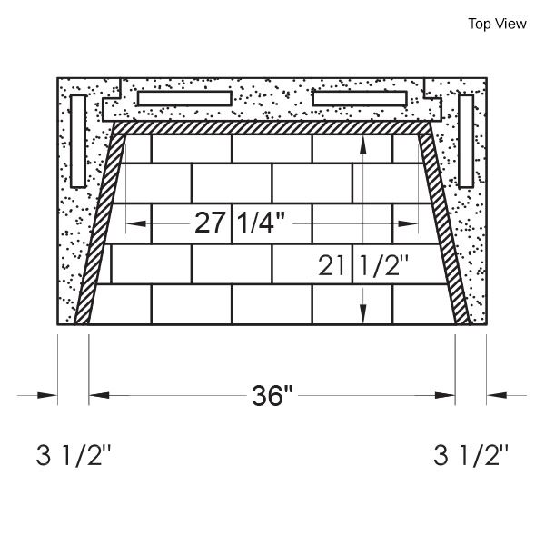 "39"" Pre-cast Masonry Firebox - Vent Free image number 12"