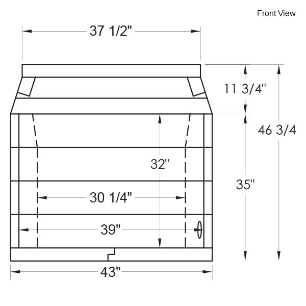 "39"" Pre-cast Masonry Firebox - Vent Free image number 13"