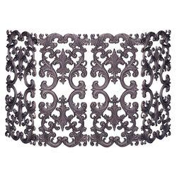 4 Fold Bronze Cast Aluminum Fireplace Screen