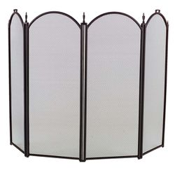 4-Panel Arched Fireplace Screen