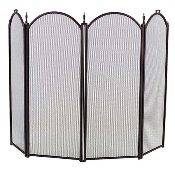 "4-Panel Arched Fireplace Screen - 52"" x 32 1/2"" image number 0"