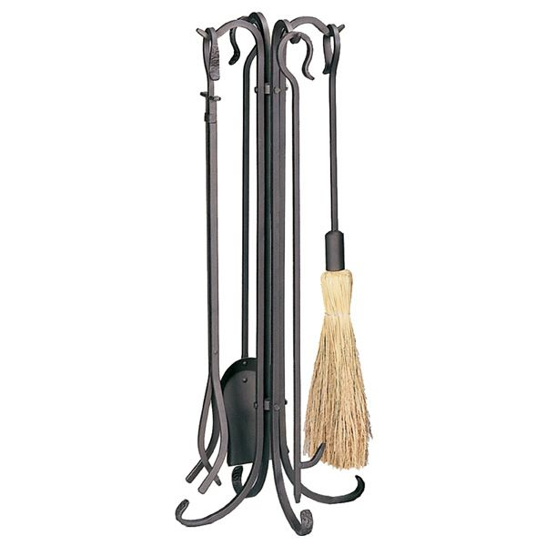 Heavy Weight Rustic Fireplace Tool Set - Bronze image number 0