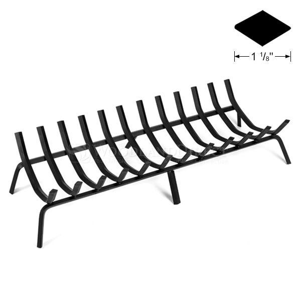 "12-Bar Rectangle Fireplace Grate - 42 1/2"" image number 0"