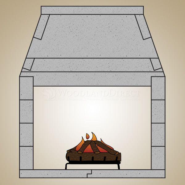 "43"" Pre-cast Masonry See Through Firebox Kit - Gas Burning image number 0"