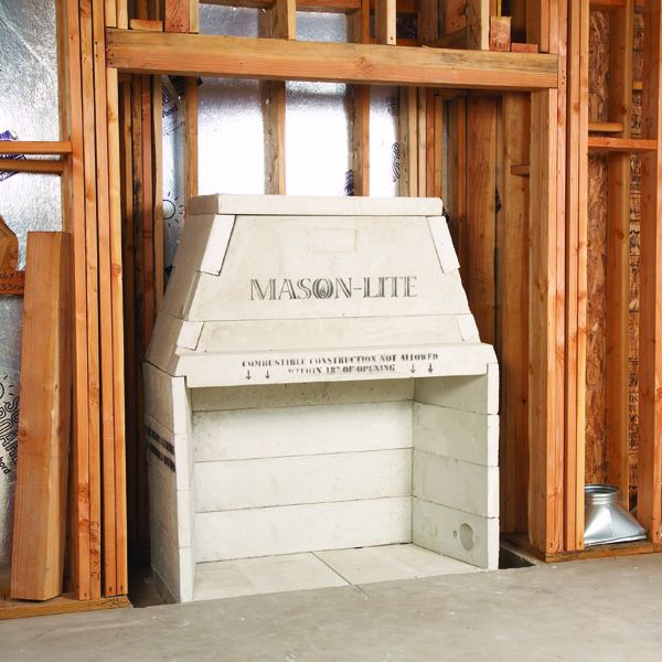 "43"" Pre-cast See-Thru Masonry Firebox Kit - Wood Burning image number 5"