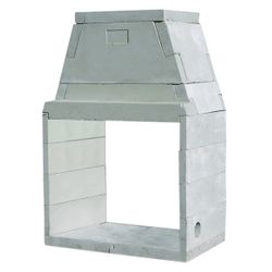"43"" Pre-cast See-Thru Masonry Firebox Kit - Wood Burning"