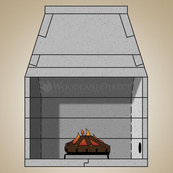 "44"" Pre-cast Masonry Firebox Kit - Gas Burning image number 0"