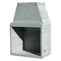 "44"" Pre-cast Masonry Firebox Kit - Wood Burning"