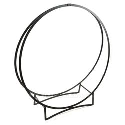 "48"" Stronghold Black Steel Log Hoop"