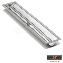 "Linear Trough Drop-in Burner System - 36"" Match Lit"