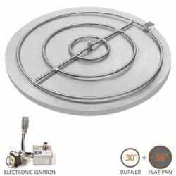 "Round Quick Ship Flat Pan Burner System - 36"" Electronic"