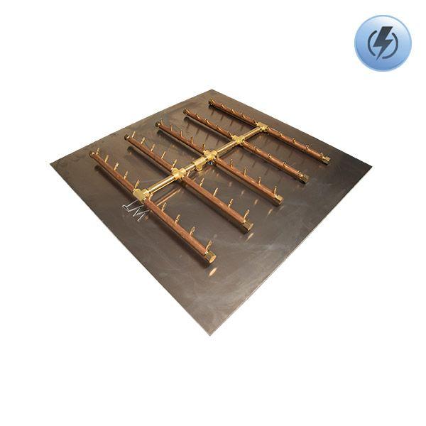 """500K BTU Square Tree Electronic Crossfire Burner System - 42"""" image number 0"""