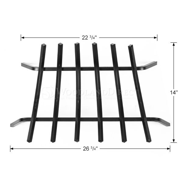 "5/8"" Steel 6-Bar Fireplace Grate - 27"" image number 1"