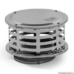 "6"" Champion 430 Stainless Steel Standard Rain Cap"