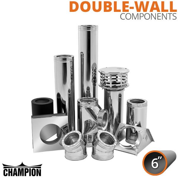 "6"" Champion Stainless Steel Class A Solid Fuel Components image number 0"