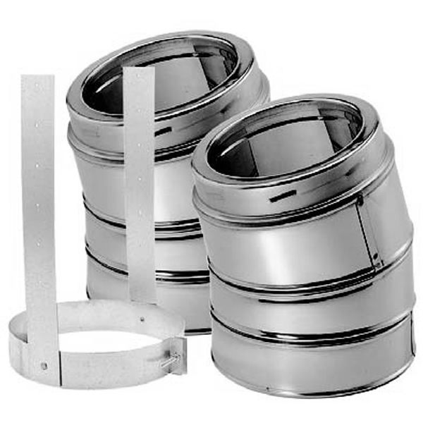 "6"" DuraTech 15° Stainless Steel Elbow Kit image number 0"