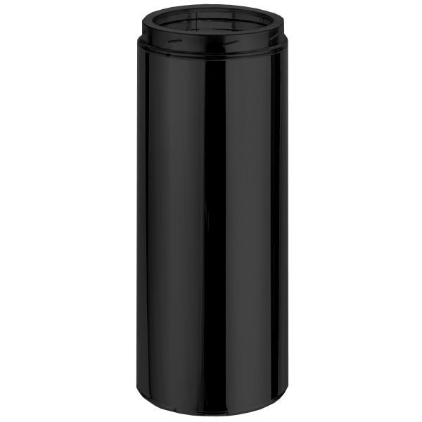 """6"""" DuraTech Black Chimney Pipe - 12"""" length image number 0"""
