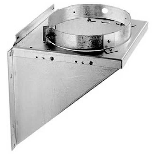 """6"""" DuraTech Stainless Steel Adj. Tee Support Bracket image number 0"""