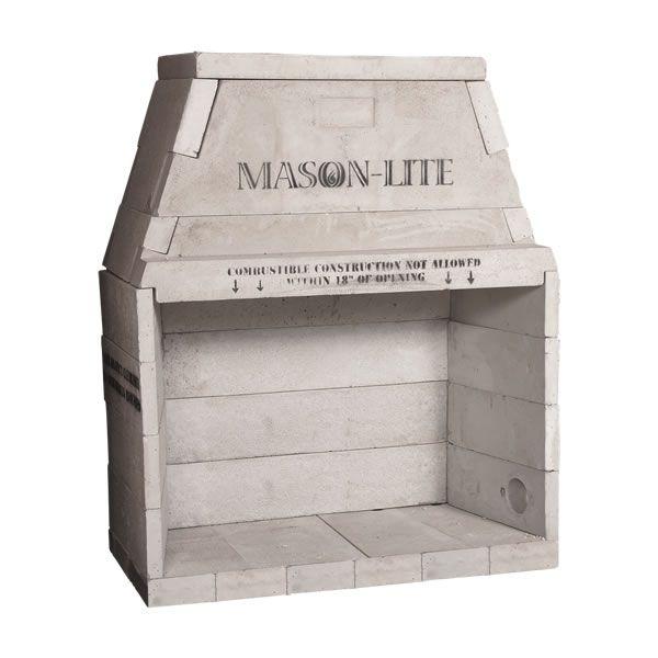 """63"""" Pre-cast Masonry Firebox Kit - Wood Burning image number 0"""