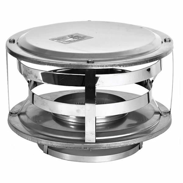 "7"" Champion 430 Stainless Steel Wood-Style Rain Cap image number 0"