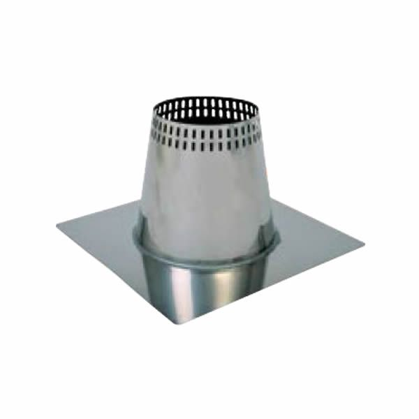 "7"" Champion 304L Stainless Steel Flat Vented Roof Flashing image number 0"